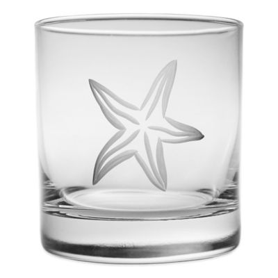Starfish Double Old Fashioned Glass