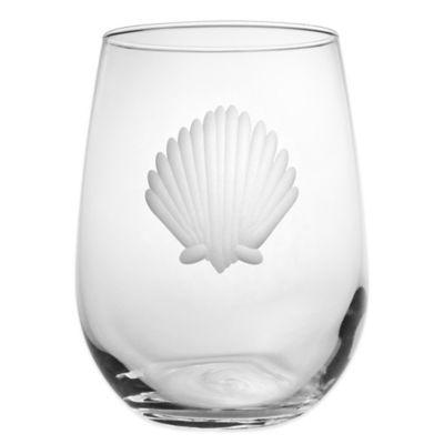 Seashell Stemless Wine Glasses
