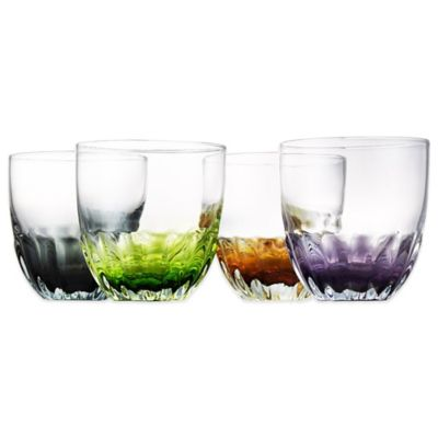 Artland® Solar Double Old Fashioned Glasses in Assorted Colors (Set of 4)
