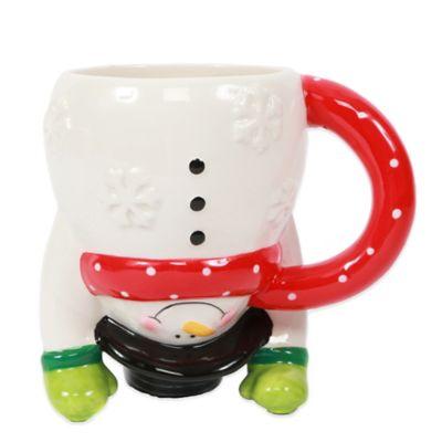 Upside Down Snowman Mug