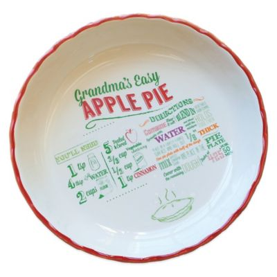 Grandma's Easy Apple Pie Recipe Plate