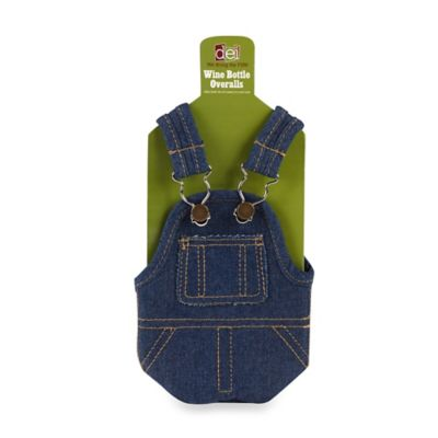 Denim Overalls Wine Bottle Holder