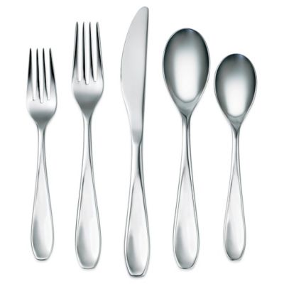 Corelle® by Cambridge Ruby Mirror 45-Piece Flatware Set