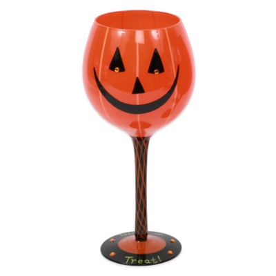 Pumpkin Wine Glass