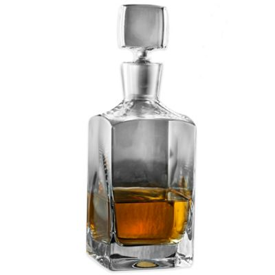 Wine Enthusiast® Metropolitan Whiskey Decanter in Clear