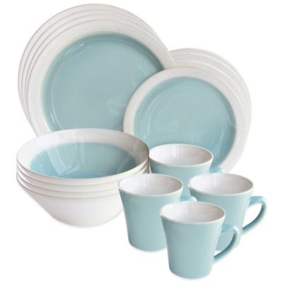 American Atelier Ashbury 16-Piece Dinnerware Set in Green