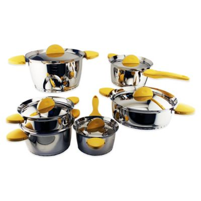 BergHOFF® Stacca 11-Piece Cookware Set in Yellow