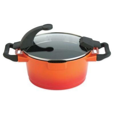 BergHOFF® Virgo 7.6 qt. Covered Stock Pot in Orange