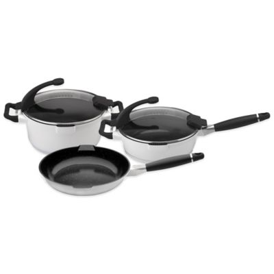 BergHOFF® Virgo 5-Piece Cast Aluminum Cookware Set in White
