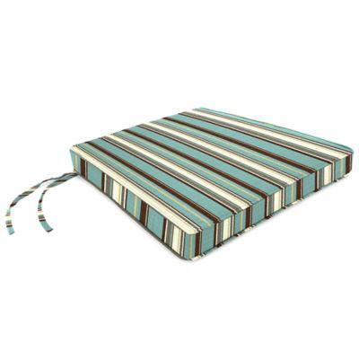 Sunbrella® 18-Inch x 20-1/2-Inch Trapezoid Chair Cushion in Carnegie Celeste