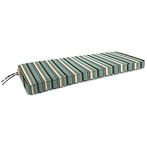 18 Inch X 48 Inch 2 Person Bench Cushion In Sunbrella Carnegie Celeste Bed Bath Beyond