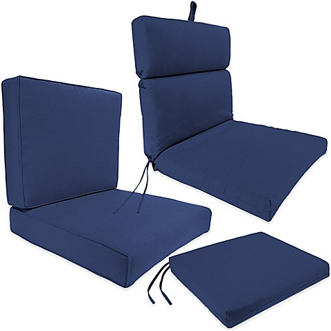Outdoor Seat Cushion Collection in Sunbrella Canvas Navy