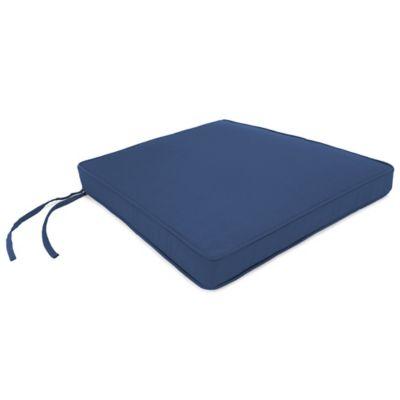 18-Inch x 20-1/2-Inch Trapezoid Chair Cushion in Sunbrella® Canvas Navy