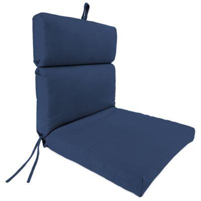 Sunbrella® 44-Inch x 22-Inch Dining Chair Cushion in Canvas Navy