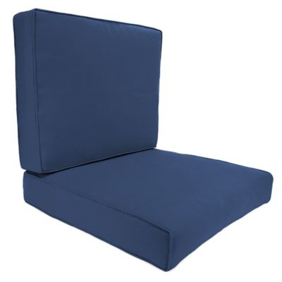 Sunbrella® 45-Inch x 25-Inch 2-Piece Deep Seat Chair Cushion in Canvas Navy