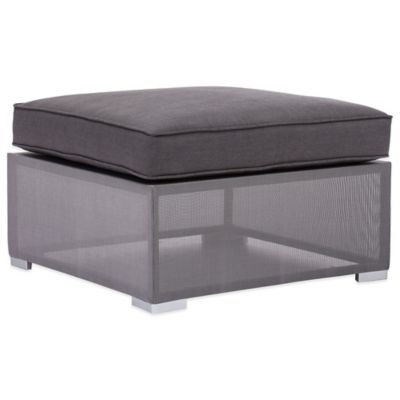 Zuo® Clear Water Bay Ottoman in Grey