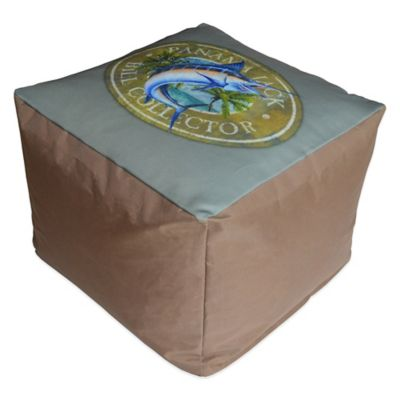 Panama Jack Bill Collector Outdoor Pouf Ottoman