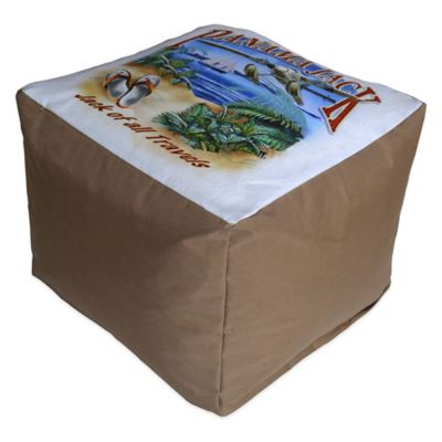 "Panama Jack ""Jack of all Travels"" Outdoor Pouf Ottoman"