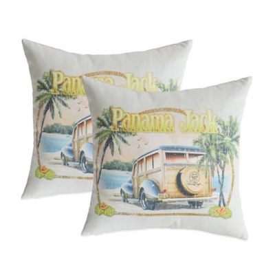 Panama Jack No Problems Outdoor Throw Pillows (Set of 2)
