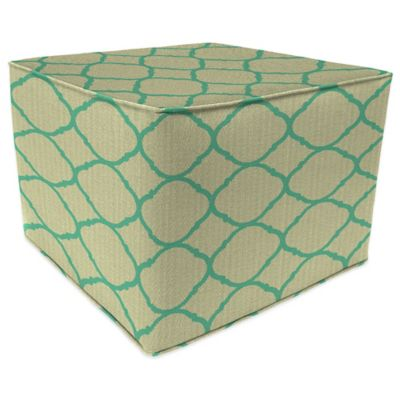 Sunbrella® Outdoor Pouf/Ottoman in Accord Jade