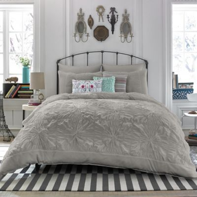 Tyler Full/Queen Duvet Cover in Grey