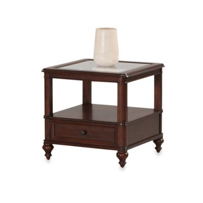 Klaussner Kinston End Table in Cherry