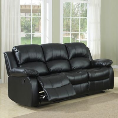 Verona Home Brighton Reclining Loveseat in Black