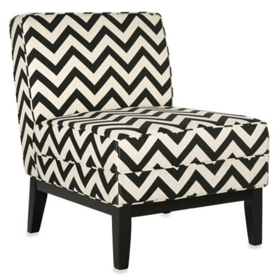 Safavieh Armond Zigzag Chair in Blue/White