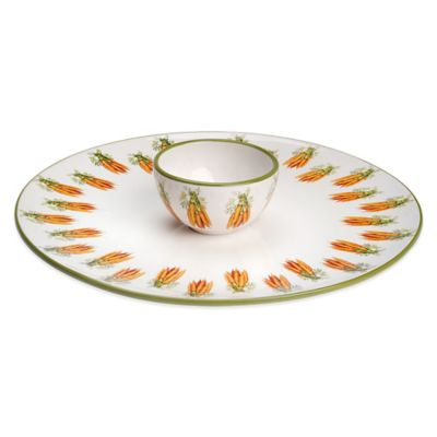 Boston International Carrot Crudité Server and Bowl Set