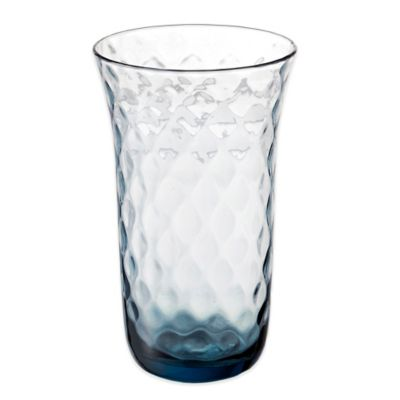 Padma Collection Optic Highball Glass in Smoky Blue
