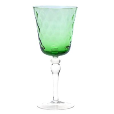 Padma Collection Optic Wine Glass in Coriander