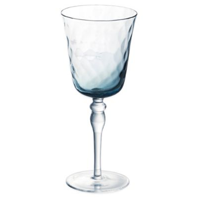 Padma Collection Optic Wine Glass in Smoky Blue