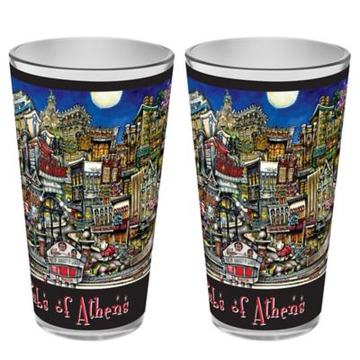 pubsOf. Athens, Georgia Pint Glasses (Set of 2)