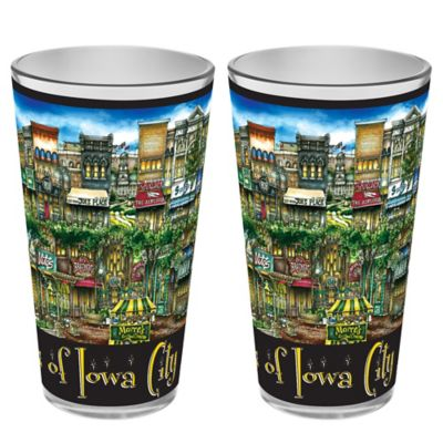 pubsOf. Iowa City, Iowa Pint Glasses (Set of 2)