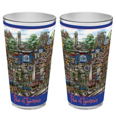 pubsOf. Lawrence, Kansas Pint Glasses