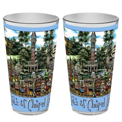 pubsOf. Chapel Hill, North Carolina Pint Glasses (Set of 2)