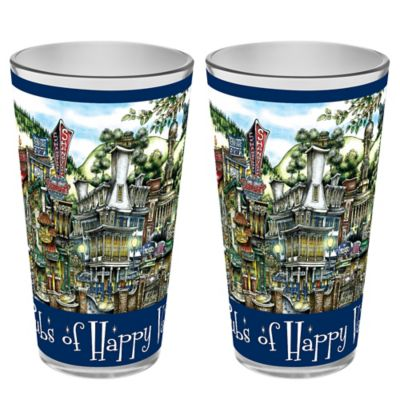 pubsOF. Happy Valley, Pennsylvania Pint Glasses (Set of 2)