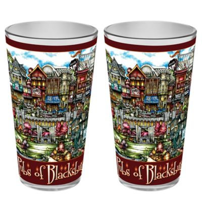 pubsOf. Blacksburg, Virginia Pint Glasses (Set of 2)