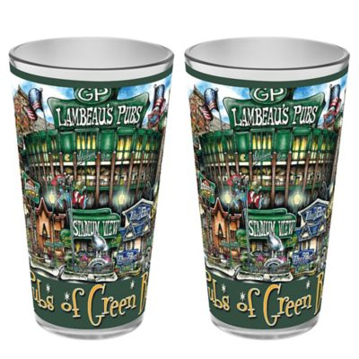 pubsOf. Green Bay Packers Pint Glasses (Set of 2)