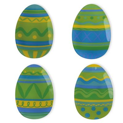 Boston International Easter Egg Plates (Set of 4)
