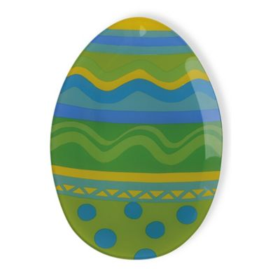 Boston International Large Easter Egg Serving Platter