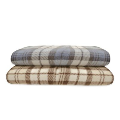 Premier Comfort Micro Fleece Twin Sheet Set in Blue Plaid
