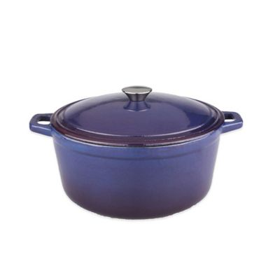 BergHOFF® Neo 5 qt. Cast Iron Covered Casserole in Blue