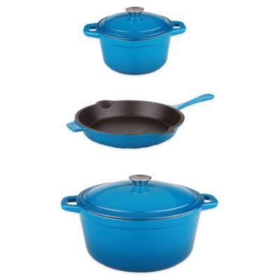 Blue Cast Iron Cookware