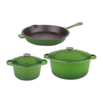 Green Cast Iron Cookware