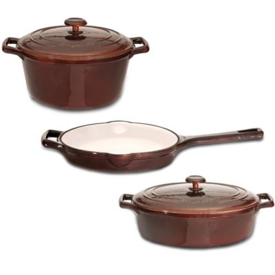 BergHOFF® Neo 5-Piece Enamel Cast Iron Cookware Set