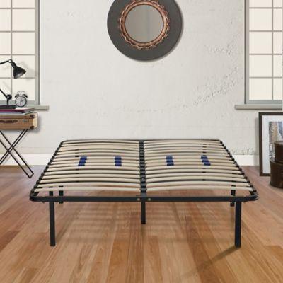 E-Rest Twin Wood & Metal Platform Bed Frame