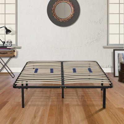 E-Rest Full Wood & Metal Platform Bed Frame