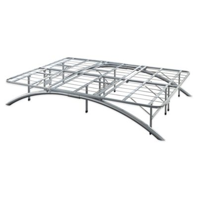 E-Rest Queen Arch Metal Platform Bed Frame in Silver
