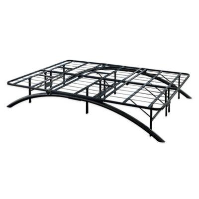 E-Rest Full Arch Metal Platform Bed Frame in Black